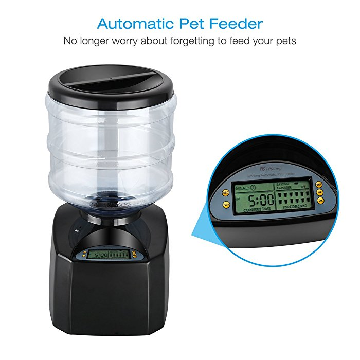control products dish bubbles voice dispenser feeders for pet cat day recording with dog food feeder automatic naughty lcd product programmable image bowl meal remote dry