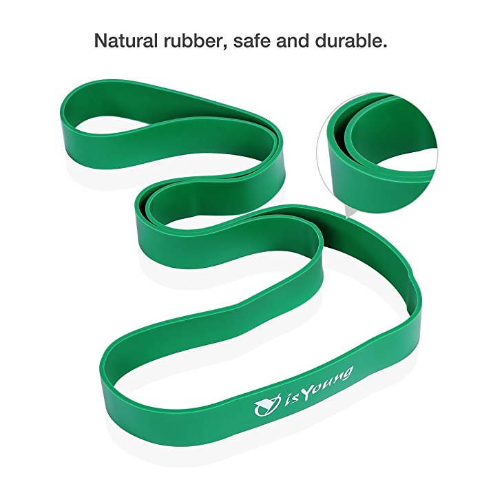 Isyoung Exercise Band Green Resistance And Stretch Band For Power