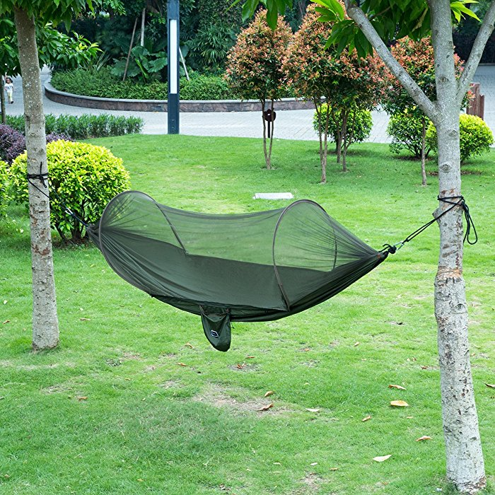 fabric net with product mosquito green durable hammock persons portable cover parachute us and army isyoung outdoors