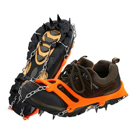 Non-Slip Ice Cleats for Shoes and Boots , Ice Snow Shoe Spikes Grips