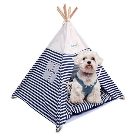 isYoung Washable Portable Pet Tent Bed for Small dog / Cat