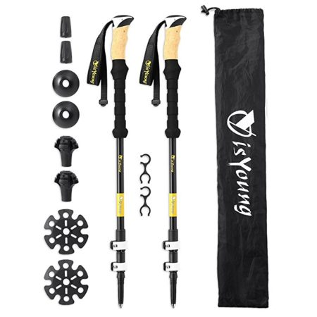 Carbon Fiber vs Aluminum Trekking Pole Alpenstock Walking Stick
